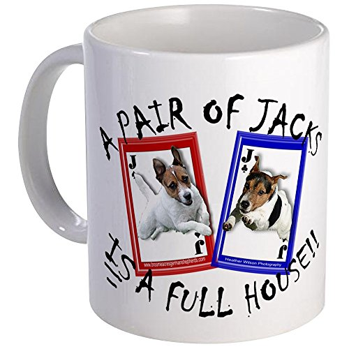 - CafePress Jack Russell Terrier PAIR OF JACKS Mug Unique Coffee Mug, Coffee Cup