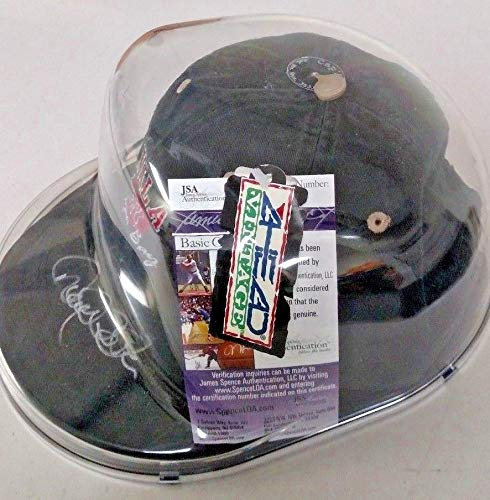 Derek Jeter Autographed Signed Autograph Cap Autographed Signed Autograph Hat Sports Memorabilia JSA Authentic Memorabiliaation Beautiful Signature