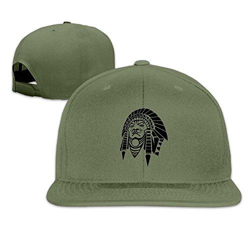 LFVM VUWD Performance Mens Plain Hat Cap Indian Chief Head With Full Tribal Head Dress -