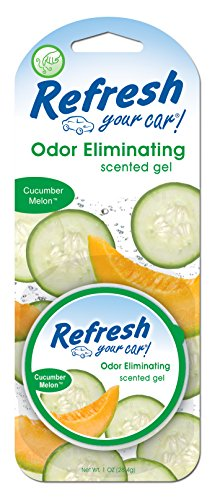 Refresh Your Car! E300879000 Scented Gel Can, 1 oz, Cucumber Melon
