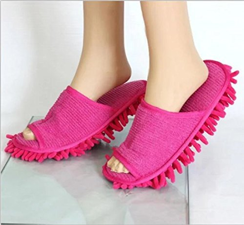 NiceWave Dust Cleaner Grazing Slippers House Bathroom Floor Cleaning Mop Cleaner Slipper Lazy Shoes Cover Microfiber