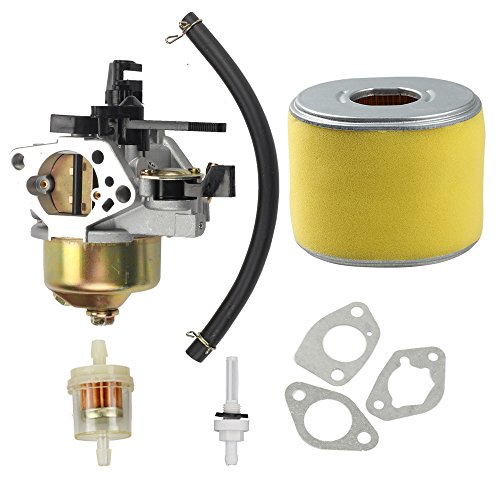 Harbot 16100-ZF6-V01 Carburetor with 17210-ZE3-505 Air Filter Gas Fuel Tank Joint Filter for Honda GX340 GX390 13HP 11HP 16100-ZF6-V00 Lawnmower Water ()