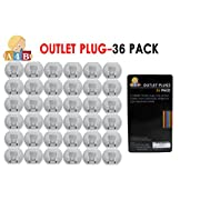 Electrical Plug Protectors - Outlet Covers Baby Proof Your Home's Electrical Sockets – 36 Pcs by All4baby