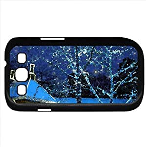 HDR Christmas Lights (Winter Series) Watercolor style - Case Cover For Samsung Galaxy S3 i9300 (Black)