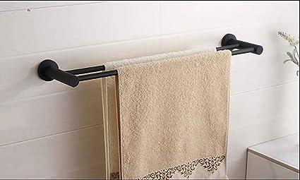 MKFG Productos para el baño, Barra Doble para Toallas, Barra para Toallas Colgantes Baño