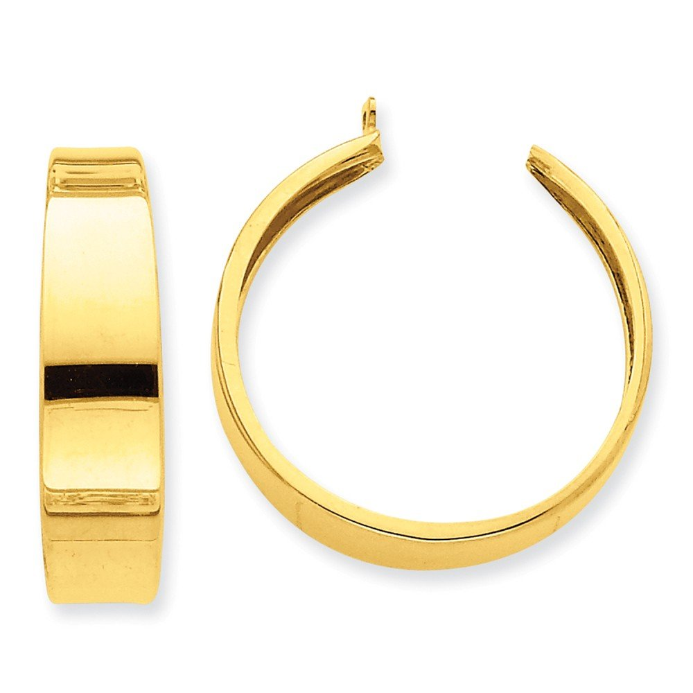 14k Polished Hoop Earring Jackets by Unknown
