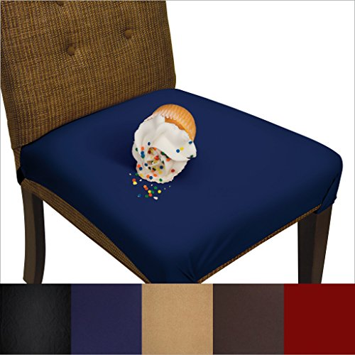 SmartSeat Dining Chair Cover and Protector- Pack of 2 -Midni