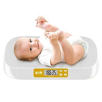 DPPAN Digital Báscula Bebe, Báscula Evolutiva Báscula Mascotas Digital, Capacidad máxima de 20 kg / 44 LB, Alta precisión 5 g,White: Amazon.es: Hogar