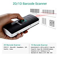 Bluetooth 2D 1D Barcode Scanner, Eyoyo Portable Mini 2.4G Wireless QR Barcode Reader for POS, iPad, iPhone, Android Phones,Tablets or Computers with BT 4.0 Receiver