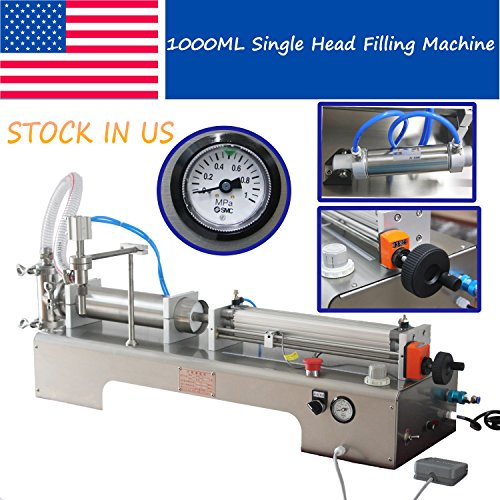 USA Stock SMC Single Head Liquid Filling Machine Foot Pedal Filler 100-1000ML by Youlian