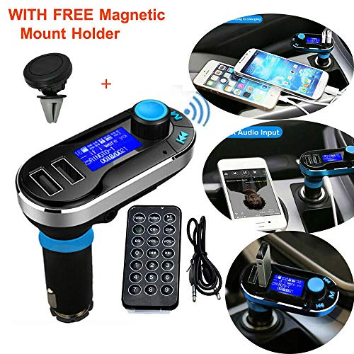 Original Bluetooth MP3 Player FM Transmitter Hands-Free Car Kit Charger Support SD Card/USB for iPod iPhone 6 Plus 6 5 5S 5C 4S 4 iPad Samsung Galaxy S5 S4 S3 Note 3 2 HTC One M8 Sony Xperia Motorala (Fm S4 Galaxy Transmitter)
