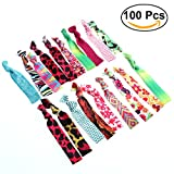 Frcolor 100 Pieces Hair Ties - Printed Patterns Elastic Ponytail Holders ...