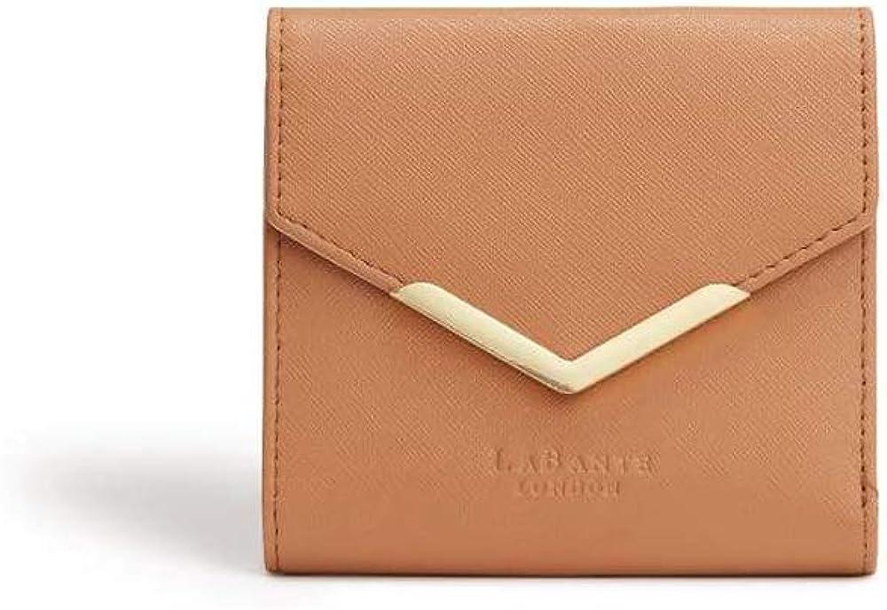 LaBante -Diana- Vegan Leather Wallets For Women - Brown Wallet Small Womens Wallet Zipper Wallets for women mini wallet for women