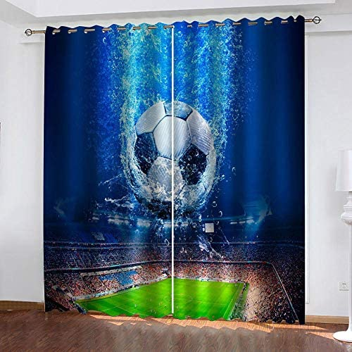 LIGAHUI Eyelet Blackout Curtains Grey /& New York City 2x W46x L54 inch Thermal Insulated Room Darkening Curtains for Plain Room darkening Nursery Bedroom Windows treatment