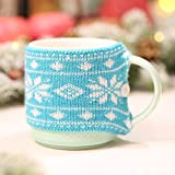 PSFS Christmas Knitting Cup Covers,Christmas Decor Woolen Cup Cover Dustcoat for Glass Cup (D, A)