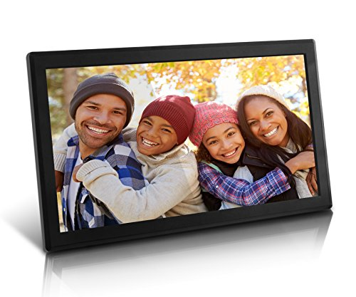Aluratek (AWDMPF117F) 17.3'' Hi-Res WiFi Digital Photo Frame with Touchscreen IPS LCD Display & 8GB Built-in Memory (1920 x 1080 Resolution), Photo/Music/Video Support, Wall Mountable by Aluratek (Image #3)