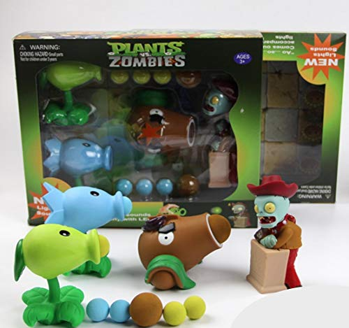 New Plants vs Zombies Package Set with Lights and Sounds - Peashooter, Snowpea, Coconut Cannon (Plants Vs Zombies All Plants And Zombies)