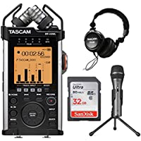 Tascam DR-44WL Portable Digital Recorder w/ Microphone, Headphones, & SD Card