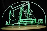 Oil Rig Well Pump Jack Derrick Drill Awesome 21'' Acrylic Advertising Business Logo Acrylic Lighted Edge Lit LED Sign / Light Up Plaque