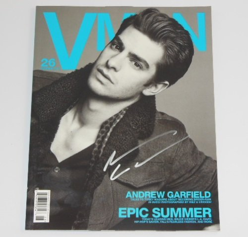 The Amazing Spider-Man Andrew Garfield Signed Autographed Vman Magazine Loa