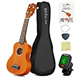 Soprano Ukulele Beginner Pack-21 Inch w/ Gig Bag How to Play Songbook Digital Tuner All in One Kit
