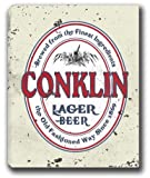 """CONKLIN Lager Beer Stretched Canvas Sign 16"""" x 20"""""""
