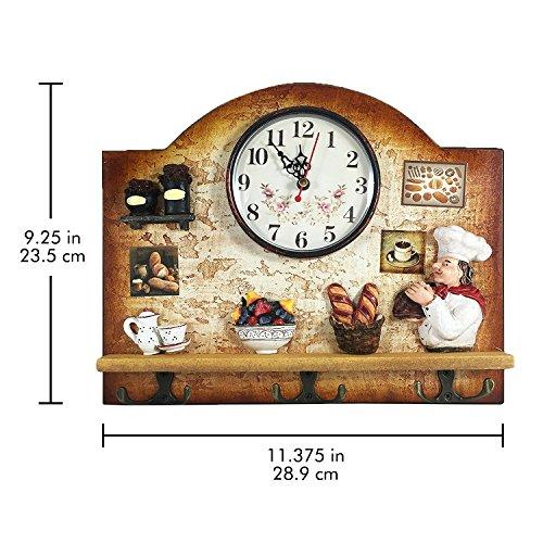Heartful Home Fat Italian Chef Kitchen Decor Clock With