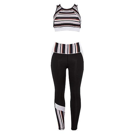 CYJJJK Pantalones de Yoga Chándal Deportivo Casual para Mujeres 2 ...