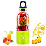 ECVILLA USB Juicer Cup, Portable Personal Blender, Fruit Mixing Machine - Water Bottle 500ml (Green)