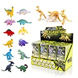 Liberty Imports 12 Pack Dinosaurs Assortment Skeleton 3D Dino Fossil Excavation Science Kits for Party Favors (Set of 12)