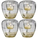 Biedermann & Sons Add Your Own Theme Bubble Glass Votive Candle Holders, Set of 4