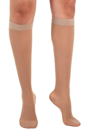 337bd6d2cc Absolute Support Women's Compression Stockings - Sheer Knee High, 15-20  mmHg Medium Graduated
