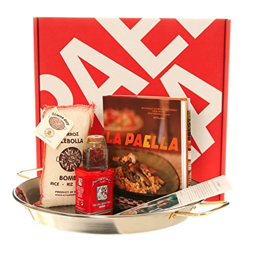 La Paella Kit with 14-Inch Stainless Steel Pan in Gift Box by La Paella