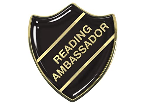 Capricornone Reading Leader Gel Domed School Shield Badge Burgundy