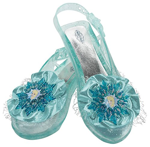 Disguise Girl's Elsa Frozen Princess Blue Snowflake Halloween Costume Shoes