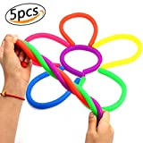 Fidget Sensory Toys Colorful Stretchy Strings Stress Reliever Fidget Toy for ADD, ADHD Or Autism Relaxing Therapy (5pcs)