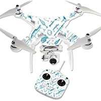 Skin For DJI Phantom 3 Standard – Teal Lures | MightySkins Protective, Durable, and Unique Vinyl Decal wrap cover | Easy To Apply, Remove, and Change Styles | Made in the USA