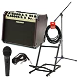 Fishman PRO-LBX-600 Loudbox Artist Acoustic Guitar Amp w/Amp Stand, Microphone with Cable, Mic Stand, and Instrument Cable