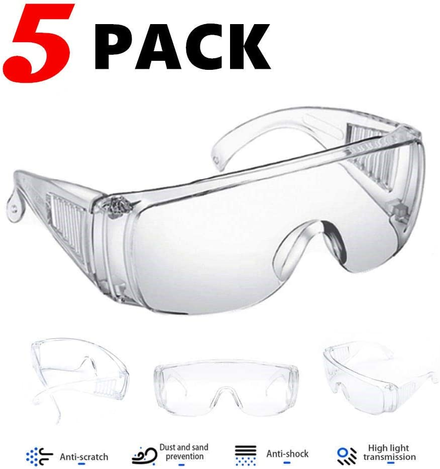3 Packs gafas Proteccion gafas proteccion Gafas Transparentes con protecci/ón anti niebla y protecci/ón y antiara/ñazos ultravioleta perfecta Gafas Protectoras para Trabajo y Deporte Hombre Mujer