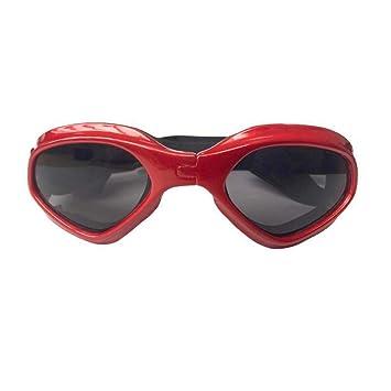 LEERAIN Mascota Gafas ProteccióN Perro Mirada Sorprendida Gafas Sol ProteccióN UV Impermeable Plegable Perros Los Gatos Gafas A Prueba Viento Protector ...
