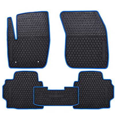 Ucaskin Car Floor Mats Custom Fit for Ford Fusion 2013 2014 2015 2016 2020 2020 2020 2020 Odorless Washable Rubber Foot Carpet Heavy Duty Anti-Slip All Weather Protection Car Floor Liner-Blue: Automotive