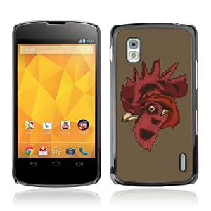 Designer Depo Hard Protection Case for LG Nexus 4 E960 / Cool Rooster
