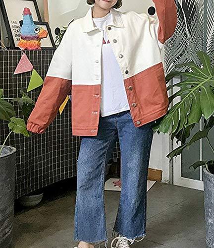 Vent Dessin M 's De Vent Femme Rouge et Femmes Automne CWJ Anim Veste Printemps tudiant Trolley Manteau Baseball Jacket z8U00X