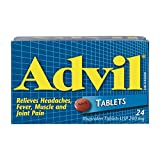 Advil Tablets (24 Count), 200 mg ibuprofen, Temporary Pain Reliever/Fever Reducer