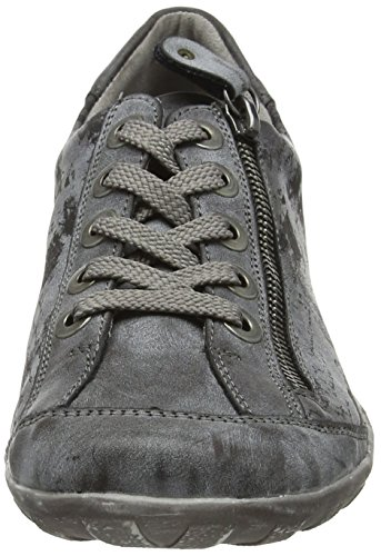 45 Sneakers Grey Women's Low Remonte Schwarz Top Asphalt R3435 aqwBO