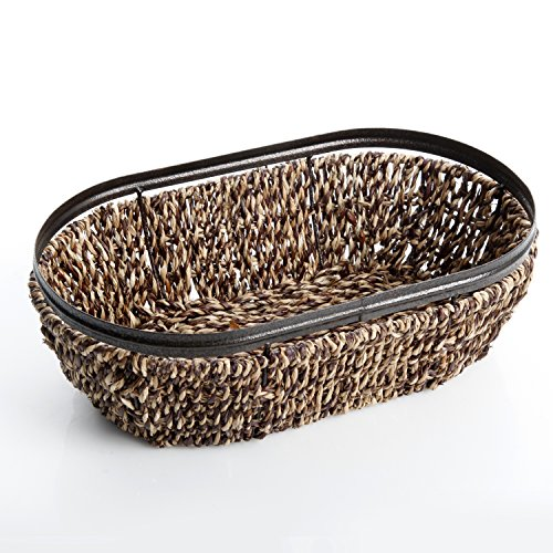Gibson Home Sea grass and Metal Frame Basket with 13