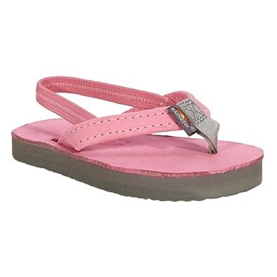 35adde71e542 Colors of Rainbow Rainbow Sandals Girls 1st Walker Toddler Premier Leather  Flip Flop (5