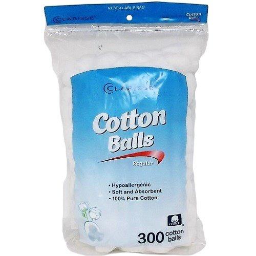 Clarisse New 801340 Cotton Balls 300Ct (24-Pack) Cottons Wholesale Bulk Health & Beauty Cottons Baby Oil