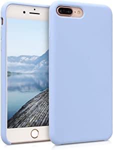 kwmobile TPU Silicone Case Compatible with Apple iPhone 7 Plus / 8 Plus - Slim Protective Phone Cover with Soft Finish - Light Blue