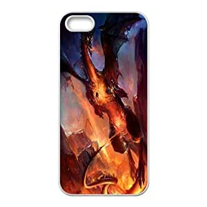 JamesBagg Phone case dragon at sky pattern For Apple Iphone 5 5S Cases FHYY445695